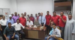 بالصور..انهاء اضراب 26 عاملاً بسنترال اسنا جنوب الأقصر