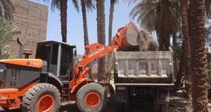 بالصور.. تنفيذ 10 قرارات إزالة تعديات على النيل بالأقصر