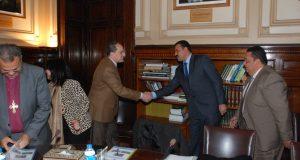 وزير الزراعة يستقبل وفد الهيئة القبطية الإنجيلية للخدمات الاجتماعية