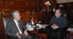 """""""فايد"""" يستقبل مدير عام المنظمة العربية للتنمية الزراعية"""