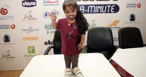 اقصر امرأة في العالم تصل مصر اليوم  وأطول رجل يصل غدا