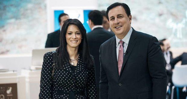 وزيرة السياحة تلتقى وزيرة الدولة للسعادة على هامش سوق السفر والسياحة بالامارات