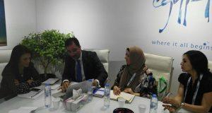 الدكتورة رانيا المشاط تلتقى عدد من وكلات السفر ومنظمى الرحلات على هامش المشاركة فى الملتقى العربى للسياحة والسفرATM