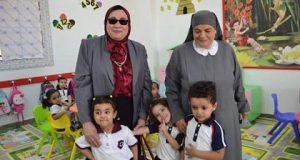 """بالصور .. """" رئيس مجلس الأمناء """" تتفقد مدارس سان جورج الخاصة للغات ببني سويف"""