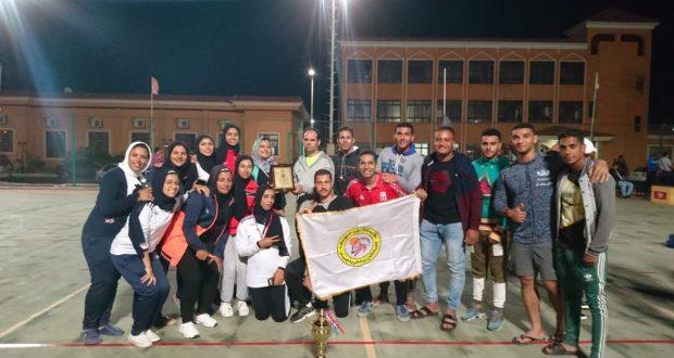 طالبات كلية التربية الرياضية بجامعة بني سويف يفزن بالمركز الثاني في فعاليات اللقاء الرياضي الكروس فيت