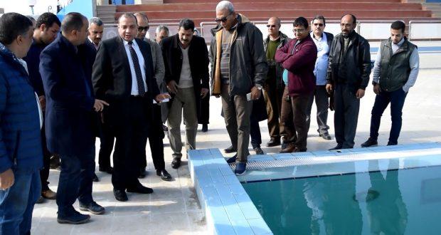 جامعة بني سويف : تشغيل مجمع الملاعب الرياضية وحمام السباحة الأوليمبيي الشهر القادم