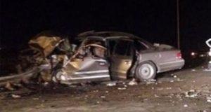 """مصرع """" وكيل نيابة """" بببا وإصابة (٦) أشخاص في حادث تصادم سيارة بمقهي ببني قاسم"""