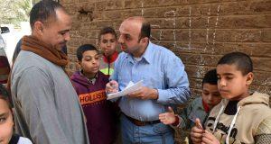 """تنظيم ماراثون للدراجات ضمن فعاليات الأسبوع المائى بقرية نيدة بمركز أخميم بسوهاج تحت شعار """"النقطة بتفرق"""""""