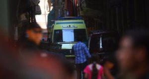 إصابة 24 شخصا في حادث انقلاب أتوبيس رحلات على الطريق الصحراوى بالمنيا
