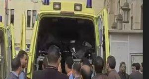 إصابة 17 شخصا فى حادث انقلاب سيارة ميكروباص على طريق الداخلة