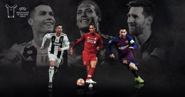 ميسى ينافس رونالدو وفان ديك على جائزة أفضل لاعب فى أوروبا